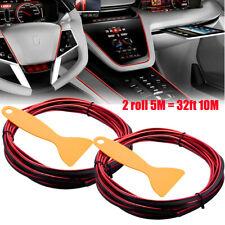 32ft 10M Red Car Interior Edge Gap Line Moulding Trim Molding Strip Auto Decor