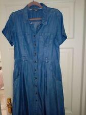 Laura Ashley 'denim' Shirt Dress Size 14