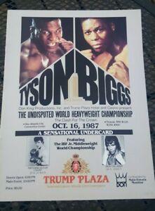 Original Mike Tyson + Tyrell Biggs Boxing Program. 1987. Trump Plaza. Nice.