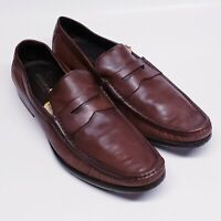 Bruno Magli Men's Brown Leather Shoes - HANDMADE IN ITALY 14m Loafers BrunoMagli