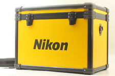 RARE!!【UNUSED】 NIKON Vintage Yellow Hard Aluminum Camera Case from Japan #992