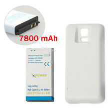 Extended thick Battery w White Cover for Samsung Galaxy S5 i9600 G900i