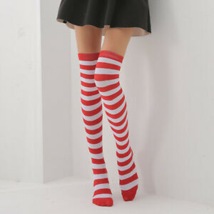 High Socks Sheer Girls Striped Plus Size The Knee Womens Thigh Stockings Over