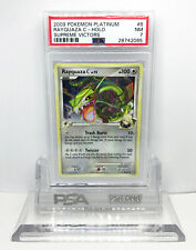 Pokemon PLATINUM SUPREME VICTORS RAYQUAZA C 8/147 HOLO FOIL RARE PSA 7 NM