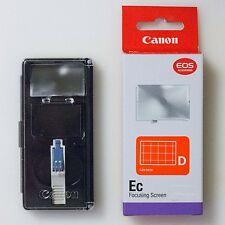 """CANON """"Grid Focusing Screen Ec-D"""" For EOS 1Ds / II / III Genuine From Japan NEW"""