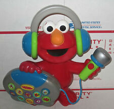 Mattel Elmo's Greatest Hits Sing Along Boom Box With Microphone 2004 Works Toy