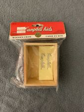 Doll House Miniatures Campbell Kids Wooden Crate