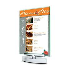"""Deflecto Swivel Sign Holder Stand-Up 5""""x7"""" Clear 1 Ea 691490"""