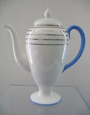 Wedgwood 3-cup Coffee Pot Blue Handle & Trim Accents  Platinum Bands 5129 S129