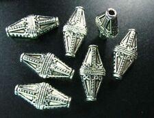 25pcs Tibetan Silver ornate round spacer beads FC8406