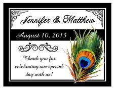 60 PEACOCK WEDDING FAVORS MAGNETS - PERSONALIZED