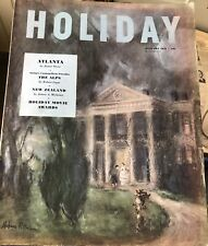Vintage HOLIDAY Magazine Jan. 1951 PITTMAN Cover ROBERT CAPPA JAMES A. MICHENER