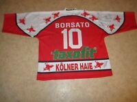 Kölner Haie Original Trikot 1995/96 + Nr.10 Borsato + Handsigniert Gr.XXL TOP