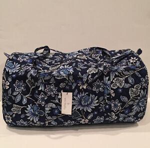 NEW Vera Bradley Large Traveler Duffel Bag Tropics Tapestry Pattern Foldable
