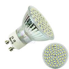 GU10 60 LED 3528 SMD 5W Pure White 6500K High Power Spot Light Lamp Bulb 220V
