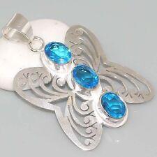 Silber Schmetterling Anhänger Form Quartz ideal für Halskette Kette Silber 925