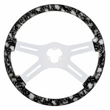 "18"" SKULL STEERING WHEEL ( WHITE)  PETERBILT  KENWORTH  FREIGHTLINER IHC"