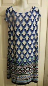 NWT JESSICA HOWARD MISSY  CHEVRON PRINT SHEATH DRESS XL