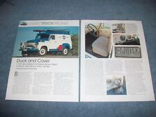 "1957 International S-120 4x4 Civil Defense Rescue Vehicle Article ""Duck & Cover"""