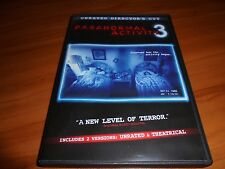Paranormal Activity 3 (DVD, Widescreen Unrated Director's Cut 2012) Used
