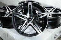 "18"" Wheels Mercedes C230 C250 C280 C300 C350 E230 E320 E500 Black Rims 5x112 (4)"