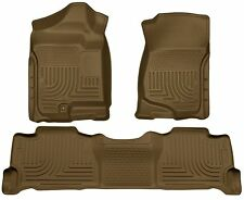 Husky Liners WeatherBeater Floor Mats - 3pc - 98253 - Escalade/Tahoe/Yukon - Tan