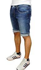 Jeans Pantaloni corti uomo blu scuro denim shorts bermuda estivi in cotone