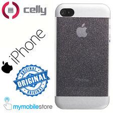 CELLY Custodia Cover Guscio GLITTY x IPHONE 4 4S Strass Glitter Brillante BIANCO