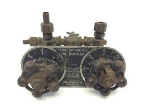 Fowler Oil Burner Knobs Industrial Range Brass Fittings Parts Lunkenheimer