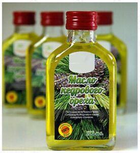 100% Extra Virgin siberian cedar pine nut oil, cold pressed, 100 ml / 3.4 fl oz