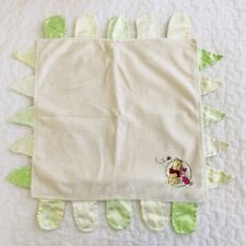 Winnie the Pooh Piglet Baby Security Blanket Taggies Satin Lovey Green Yellow