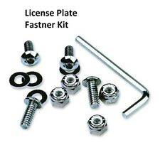 2FastMoto Chrome License Plate Fastner Kit Bolts Tags Screws Motorcycle Triumph(Fits: Hornet)