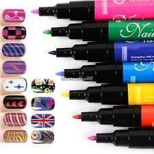 12 PCs/LOT Nail Art Pen Painting Design Tool  Drawing UV Gel Polish Made Easy C1