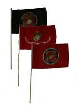 "12x18 12""x18"" Wholesale Lot of 3 U.S. Marines USMC Marine Corps Stick Flag"