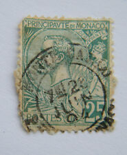 1891 / 1894 Monaco Prince Albert I 25 Cent Green Used. Space Filler.