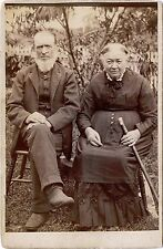 ANTIQUE CABINET PHOTO OF AN OLDER COUPLE & GREAT IMAGE, NO PUBLISHER INFO.