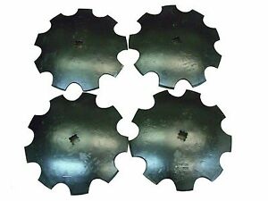 """18'' Notched Disc Harrow Blades Scalloped HEAVY DUTY 1"""" or 1 1/8"""" SQ  *LOT OF 4*"""