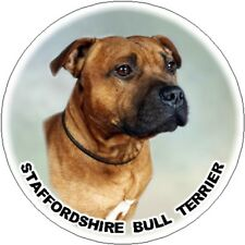 2 Staffordshire Bull Terrier Car Stickers - Starprint