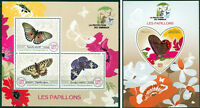 Butterflies Insects Fauna Madagascar MNH stamp set ODD SHAPE
