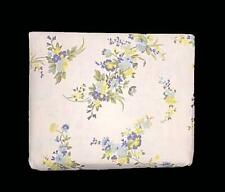 Laura Ashley TILLY Yellow & Blue Floral 4-Pc QUEEN Flannel Sheet Set NIP DISC