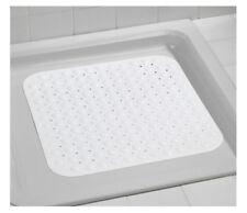 ❤ WENKO 18943100 Shower Mat Tropic White Nonslip Suction Pads Plastic White