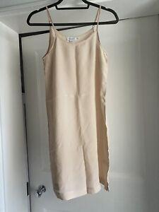 Sunspel Womens 100% Silk Peach Nude Pink Slip Camisole Size XXS