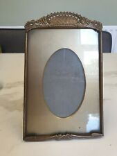antique gold colour metal tapered top picture photo frame
