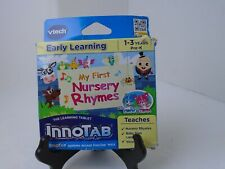 Vtech InnoTab Software Early Learning My First Nursery Rhymes Age 1-3 damage box