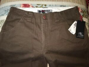 New Ambiguous NWT's Men Duffle Green Cotton Pants- Fjord Size 32