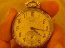 WALTHAM 12 SIZE POCKET WATCH OF 17 JEWELS WGF RUNS
