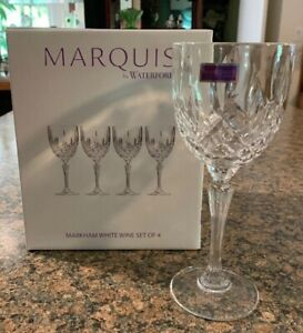 Waterford Markham Wine Glasses Set Of 4 New In Box Free Shipping
