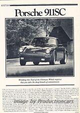 1980 Porsche 911 911SC Road Test Original Car Review Report Print Article J808