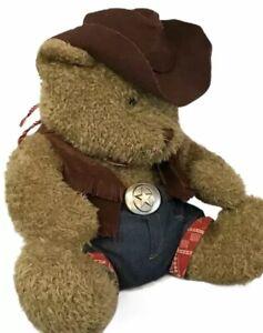 """Snuggie Toy Teddy Bear 15"""" Plush Stuffed High Quality Clothes Cowboy Outfit B74"""