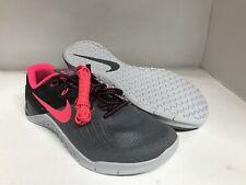 Nike Metcon 3 Grey/Solar Red/Black Cross Training Shoes Women's Size 8.5